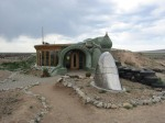 A beautiful Earthship house. Totally off the grid.