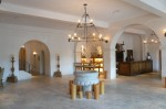 The lobby of the beautiful Hotel St. Francis in old-town Santa Fe.